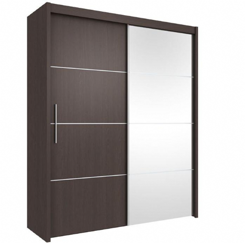 Carlo Sliding Door Wardrobe 151cm in Wenge - 2415